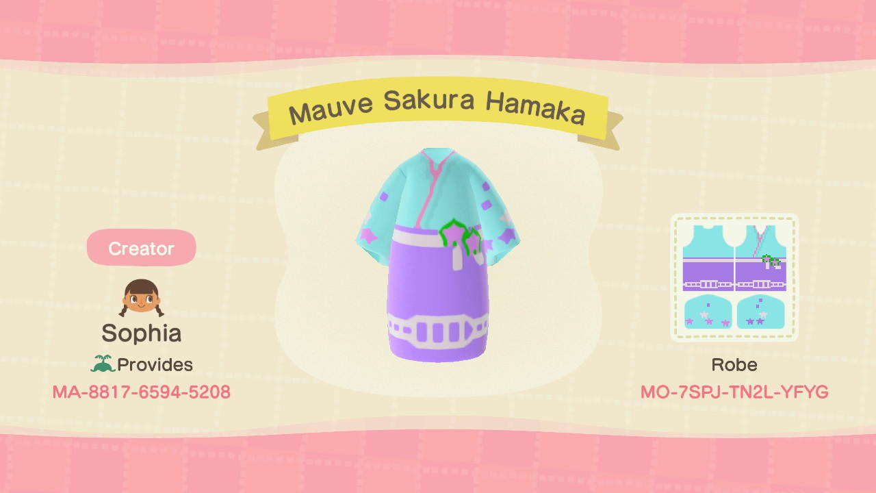 Mauve Sakura Hakama - Animal Crossing: New Horizons Custom Design