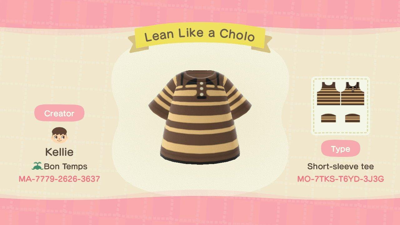 Lean Like a Cholo - Animal Crossing: New Horizons Custom Design