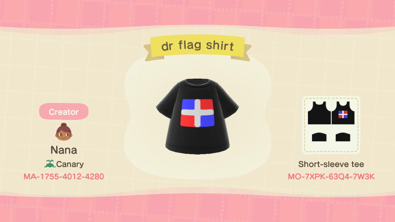 DOMINICAN FLAG SHIRT - Animal Crossing: New Horizons Custom Design