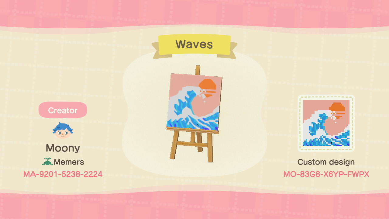 Kanagawa waves - Animal Crossing: New Horizons Custom Design