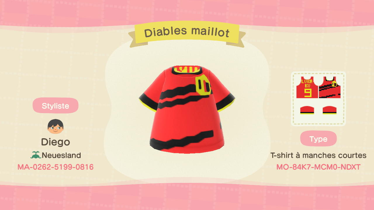 Diables maillot - Animal Crossing: New Horizons Custom Design