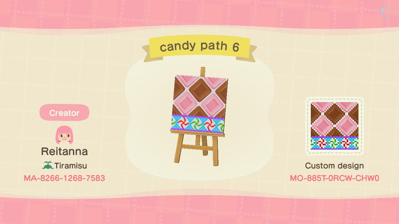 candy path 6 - Animal Crossing: New Horizons Custom Design