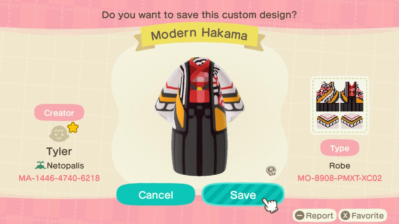 Modern Hakama - Animal Crossing: New Horizons Custom Design