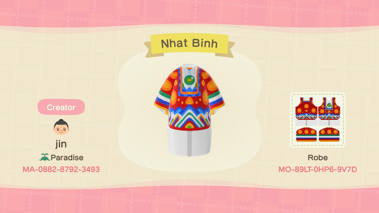 Ao dai - Nhat Binh - Animal Crossing: New Horizons Custom Design