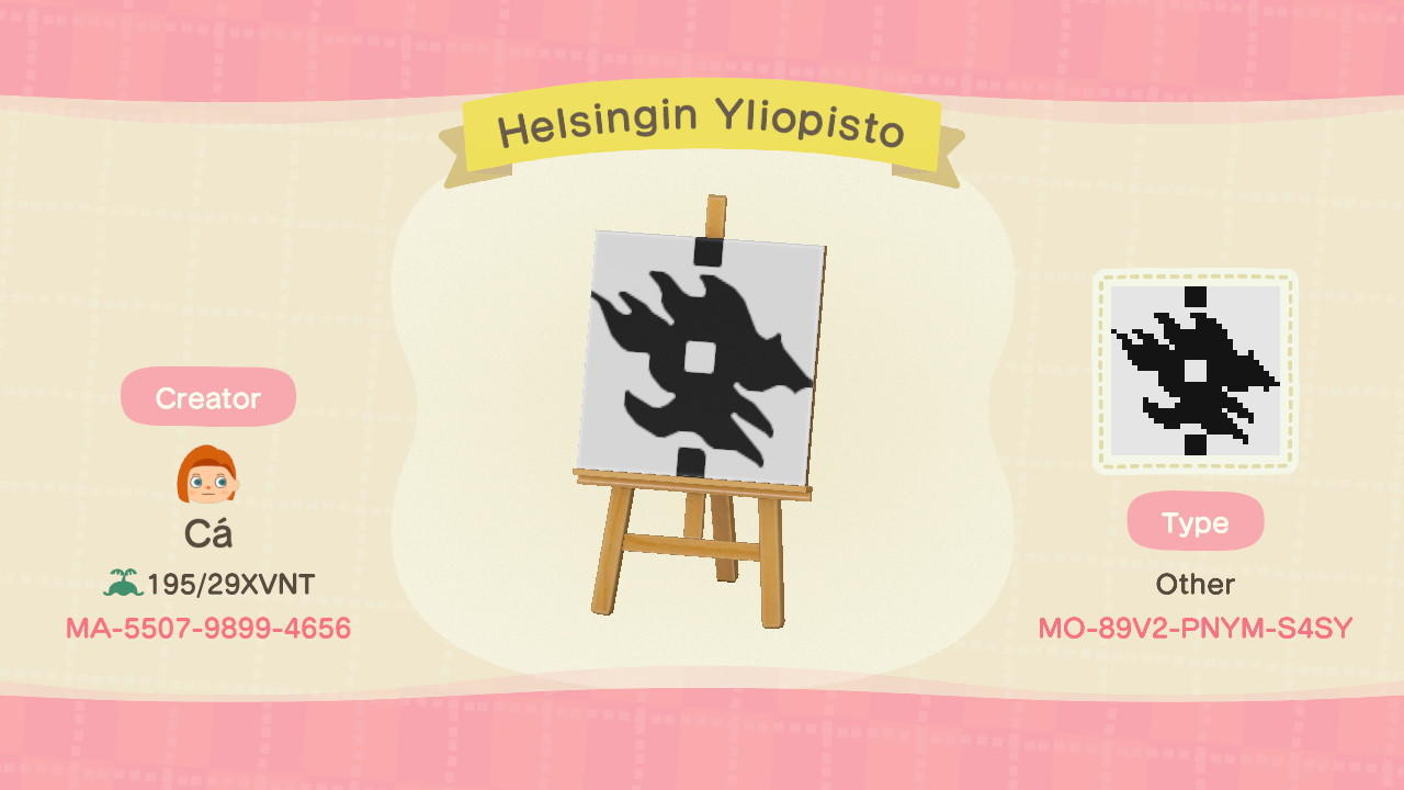 Helsingin Yliopisto - Animal Crossing: New Horizons Custom Design
