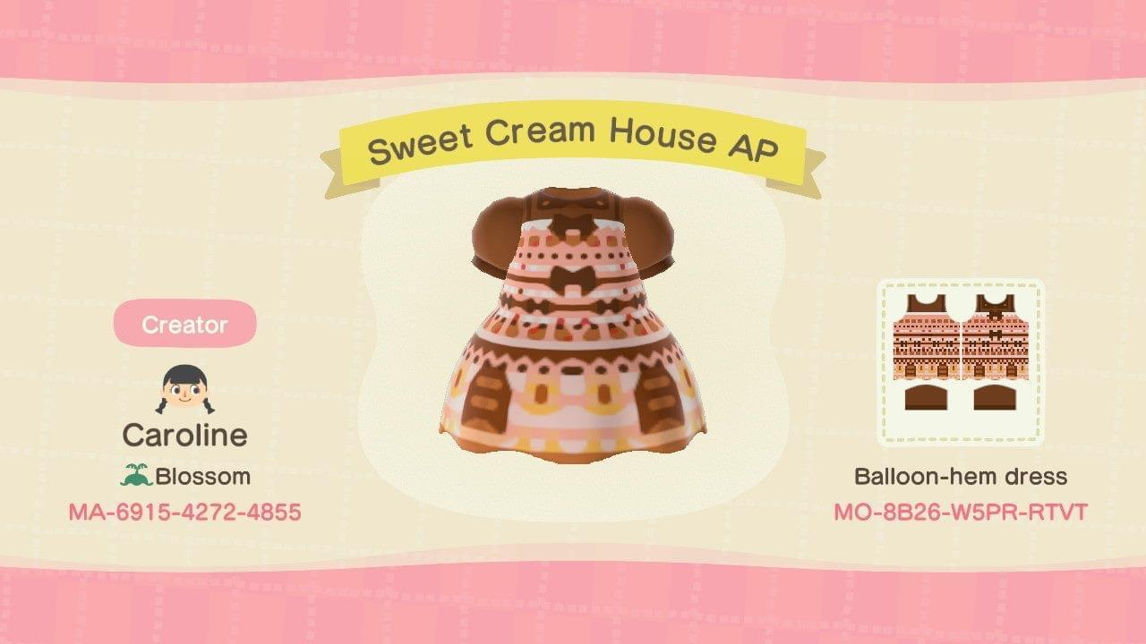 Sweet Cream House AP - Animal Crossing: New Horizons Custom Design