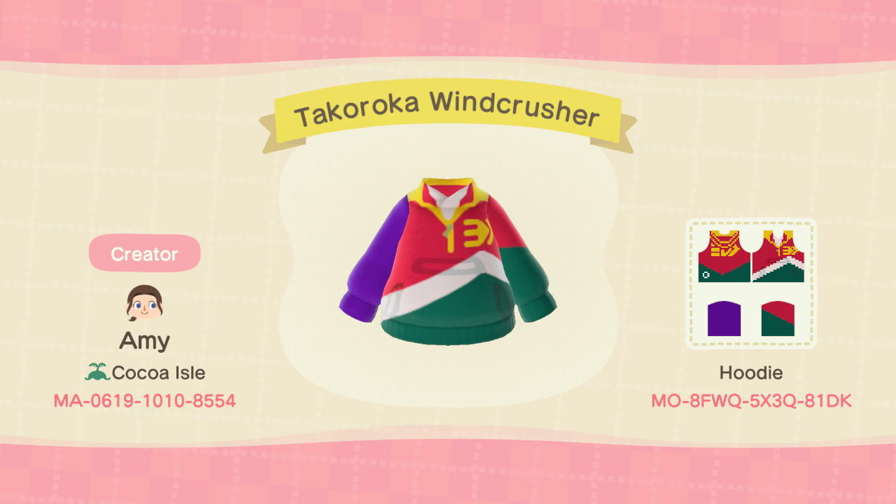 Takoroka Windcrusher - Animal Crossing: New Horizons Custom Design