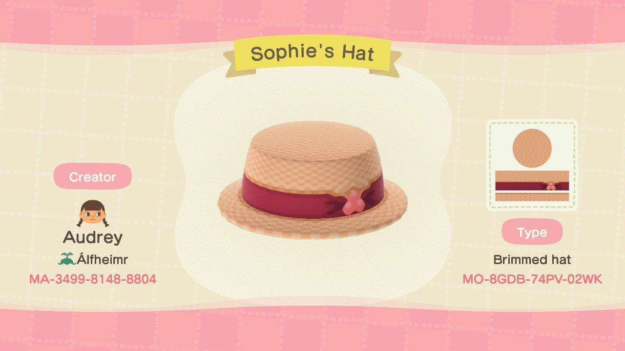 Sophie's Hat - Animal Crossing: New Horizons Custom Design
