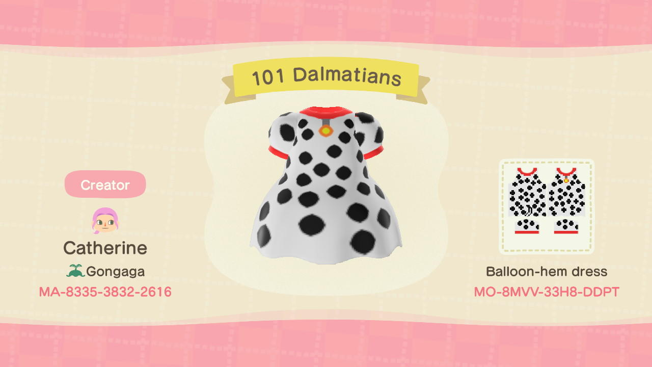 101 Dalmatians  - Animal Crossing: New Horizons Custom Design