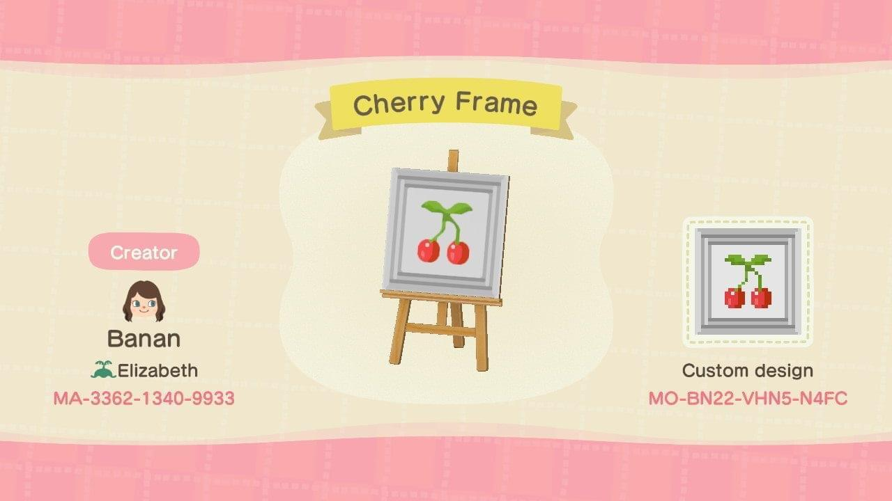 Cherry Frame - Animal Crossing: New Horizons Custom Design