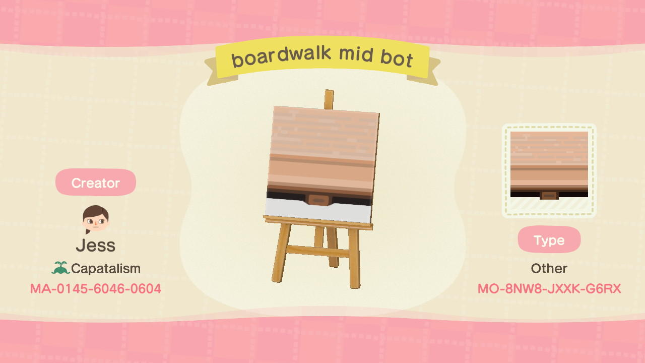 boardwalk mid bot - Animal Crossing: New Horizons Custom Design