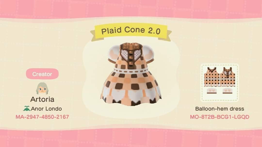 Plaid Cone 2.0 - Animal Crossing: New Horizons Custom Design