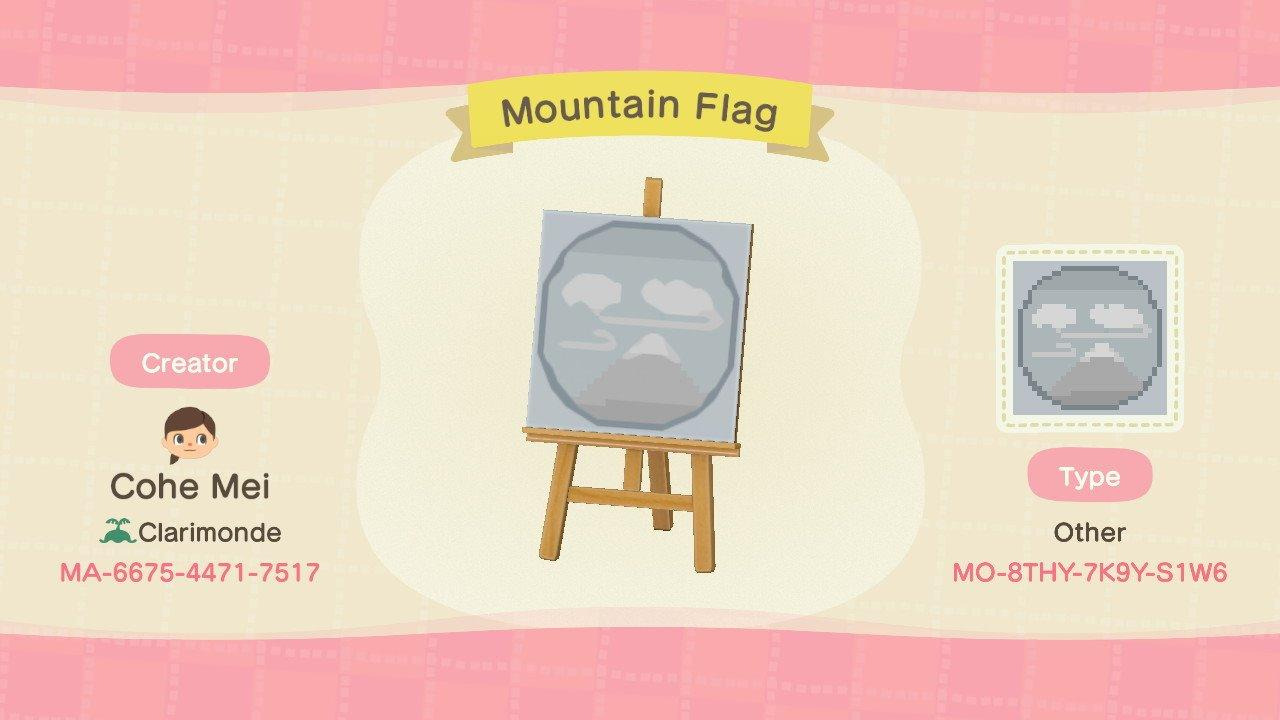 Mountain Flag - Animal Crossing: New Horizons Custom Design