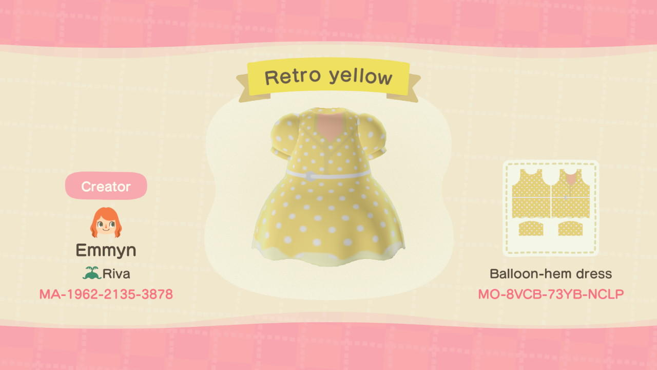 Retro yellow - Animal Crossing: New Horizons Custom Design
