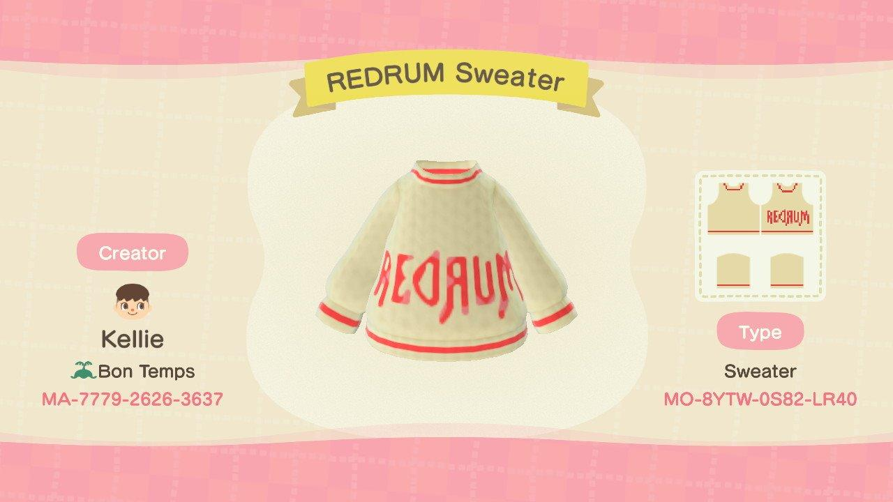 REDRUM Sweater - Animal Crossing: New Horizons Custom Design