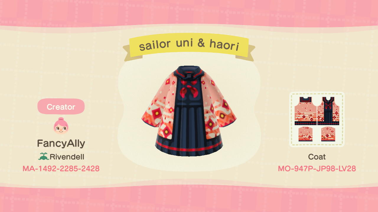 Sailor Suit & Haori - Animal Crossing: New Horizons Custom Design