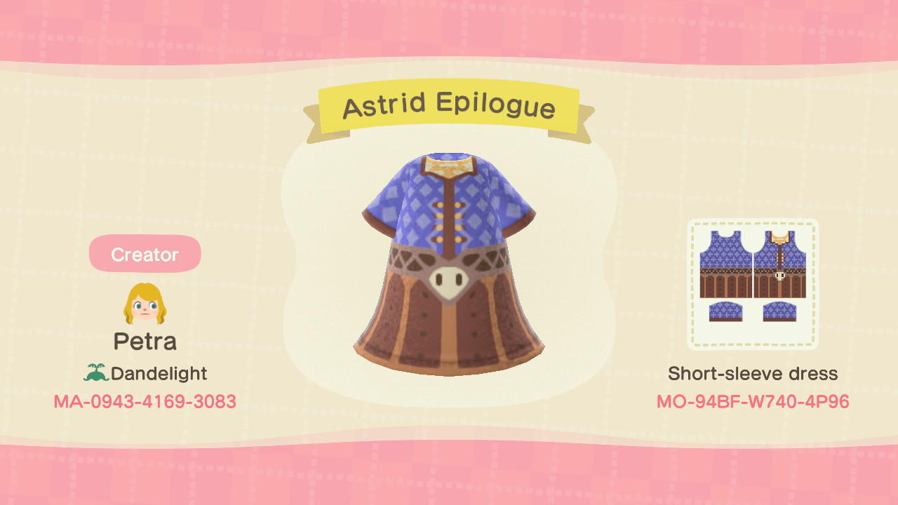 Astrid Epilogue - Animal Crossing: New Horizons Custom Design