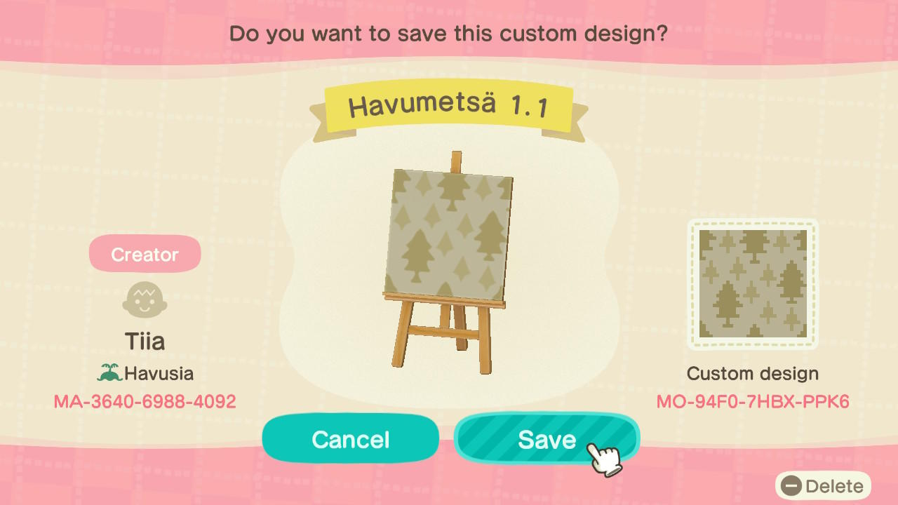 Havumetsä 1.1 - Animal Crossing: New Horizons Custom Design