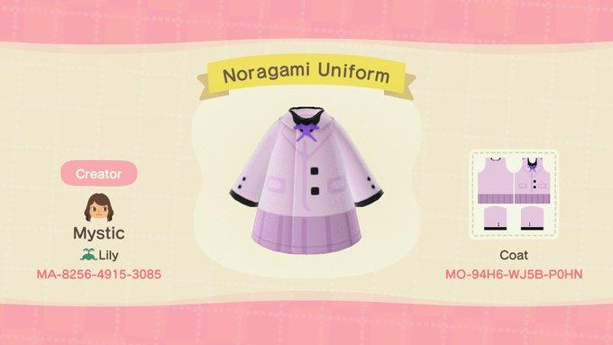 Noragami Uniform - Animal Crossing: New Horizons Custom Design