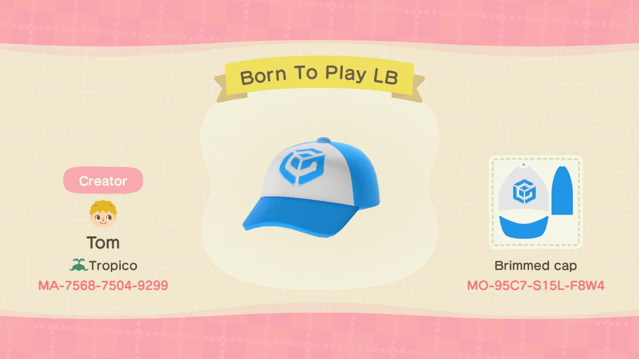 Born To Play LB - Animal Crossing: New Horizons Custom Design