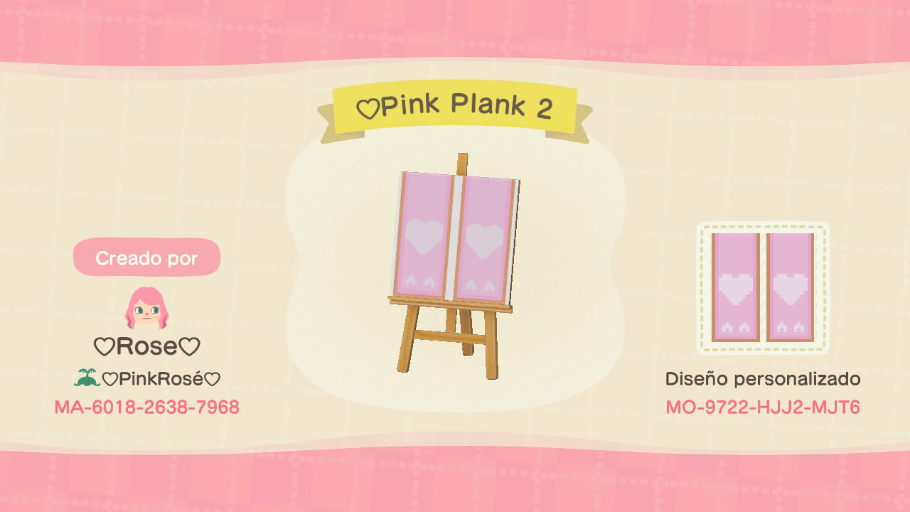 Cute Pink Plank 2 - Animal Crossing: New Horizons Custom Design