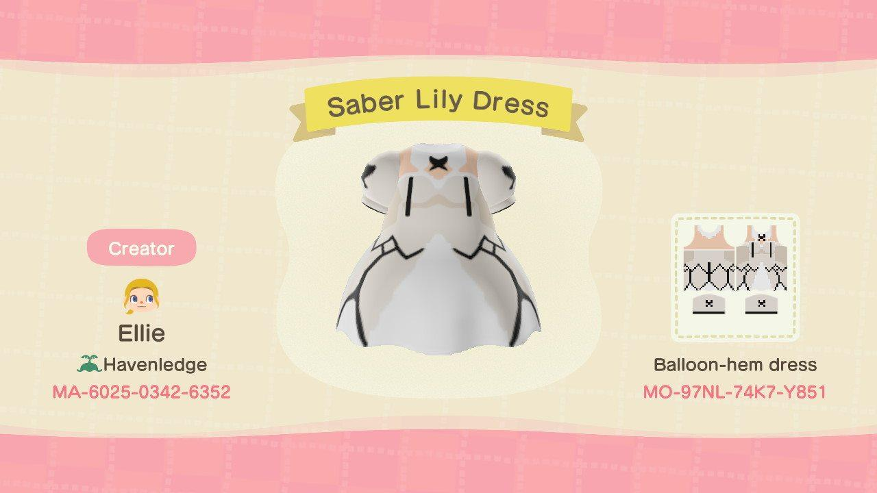 Saber Lily Dress - Animal Crossing: New Horizons Custom Design