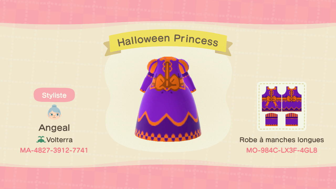 Halloween Princess - Animal Crossing: New Horizons Custom Design