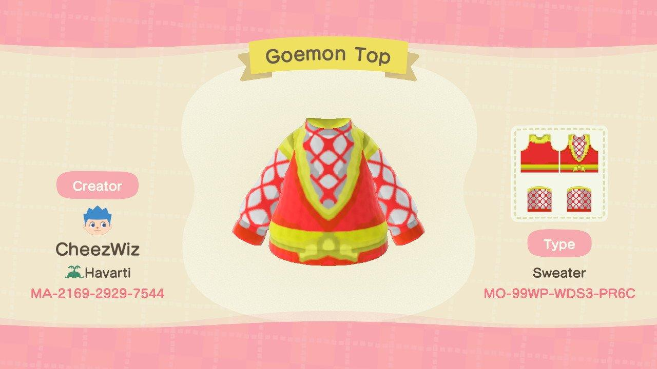 Goemon Top - Animal Crossing: New Horizons Custom Design