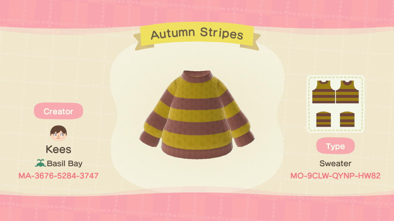Autumn Stripes - Animal Crossing: New Horizons Custom Design