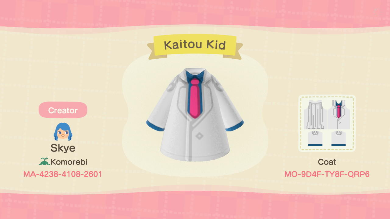 Kaitou Kid - Animal Crossing: New Horizons Custom Design