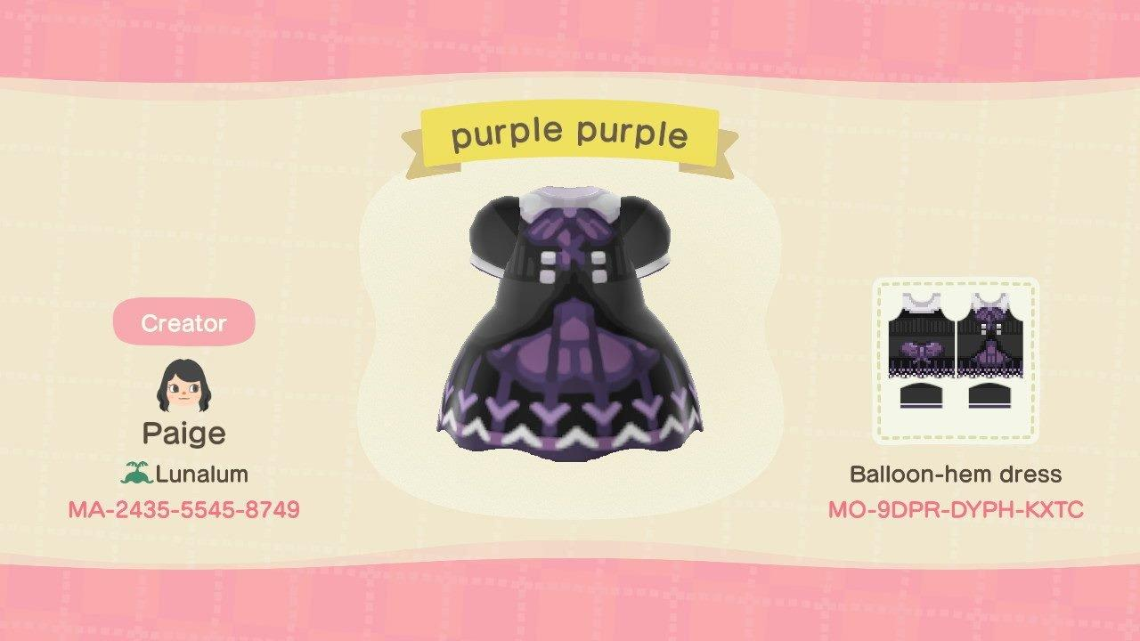 purple purple - Animal Crossing: New Horizons Custom Design