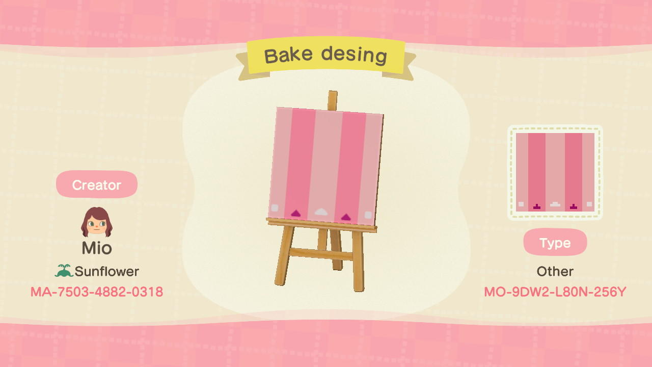 Bake Design Stall - Animal Crossing: New Horizons Custom Design