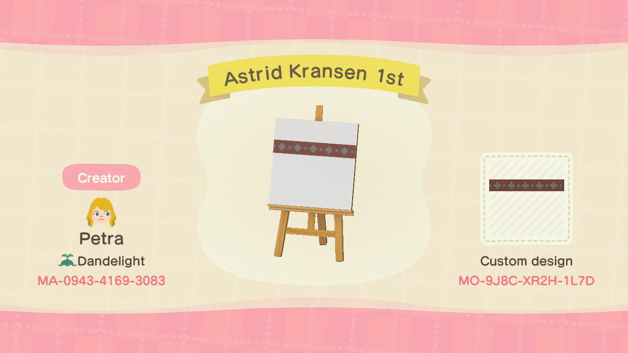 Astrid Kransen 1st - Animal Crossing: New Horizons Custom Design