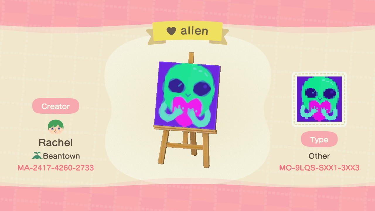 love alien - Animal Crossing: New Horizons Custom Design