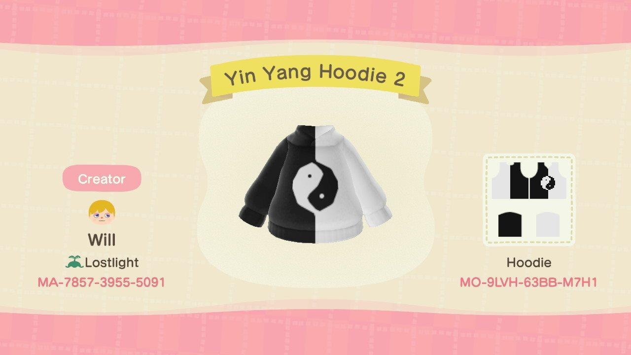 Yin Yang Hoodie 2 - Animal Crossing: New Horizons Custom Design
