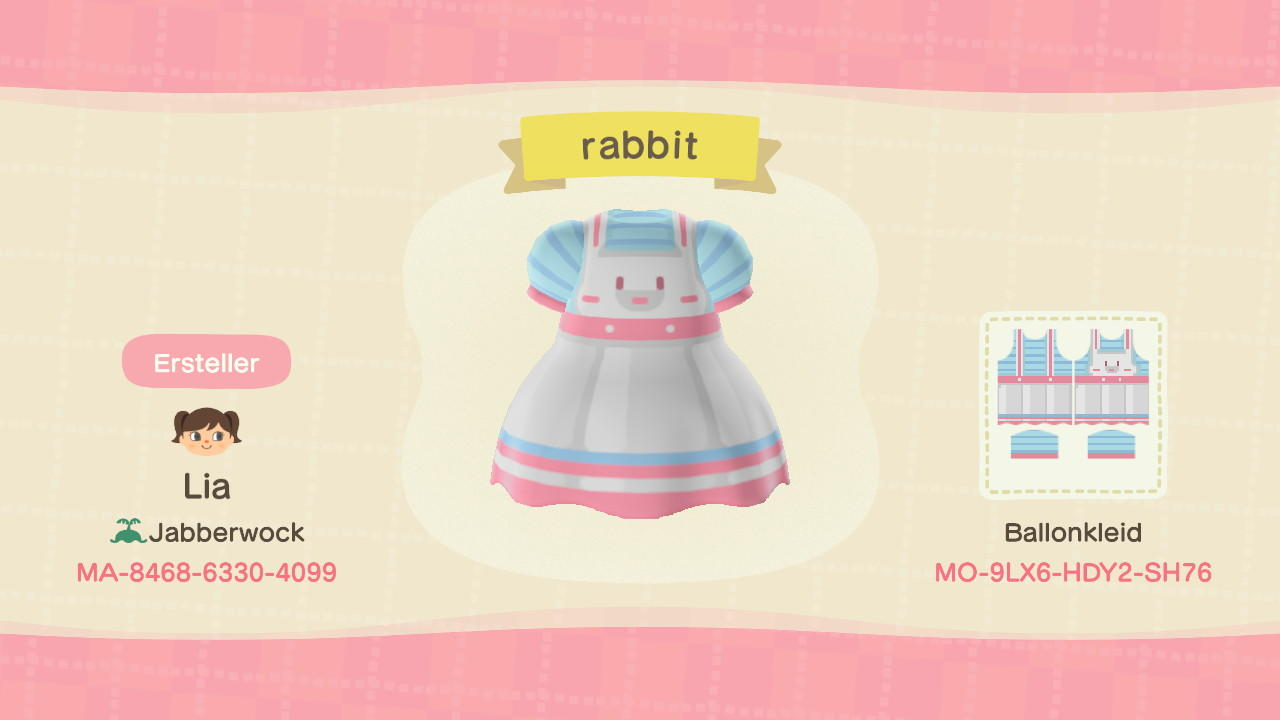 rabbit apron/dress - Animal Crossing: New Horizons Custom Design