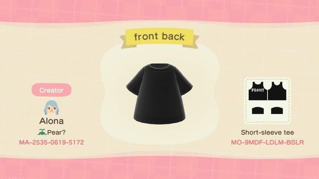 front back - Animal Crossing: New Horizons Custom Design