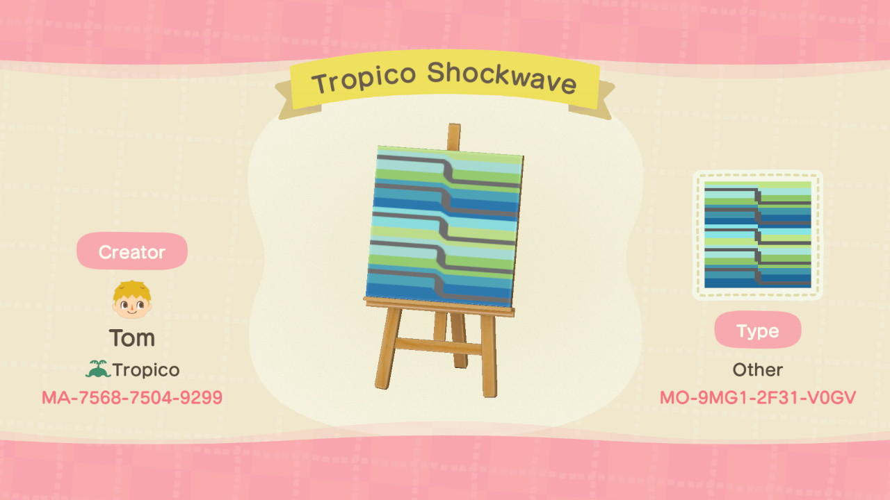 Tropico Shockwave - Animal Crossing: New Horizons Custom Design