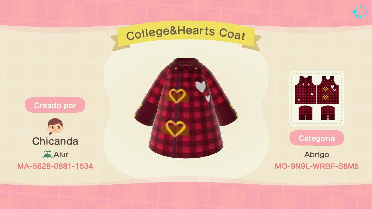 College&Hearts Coat - Animal Crossing: New Horizons Custom Design