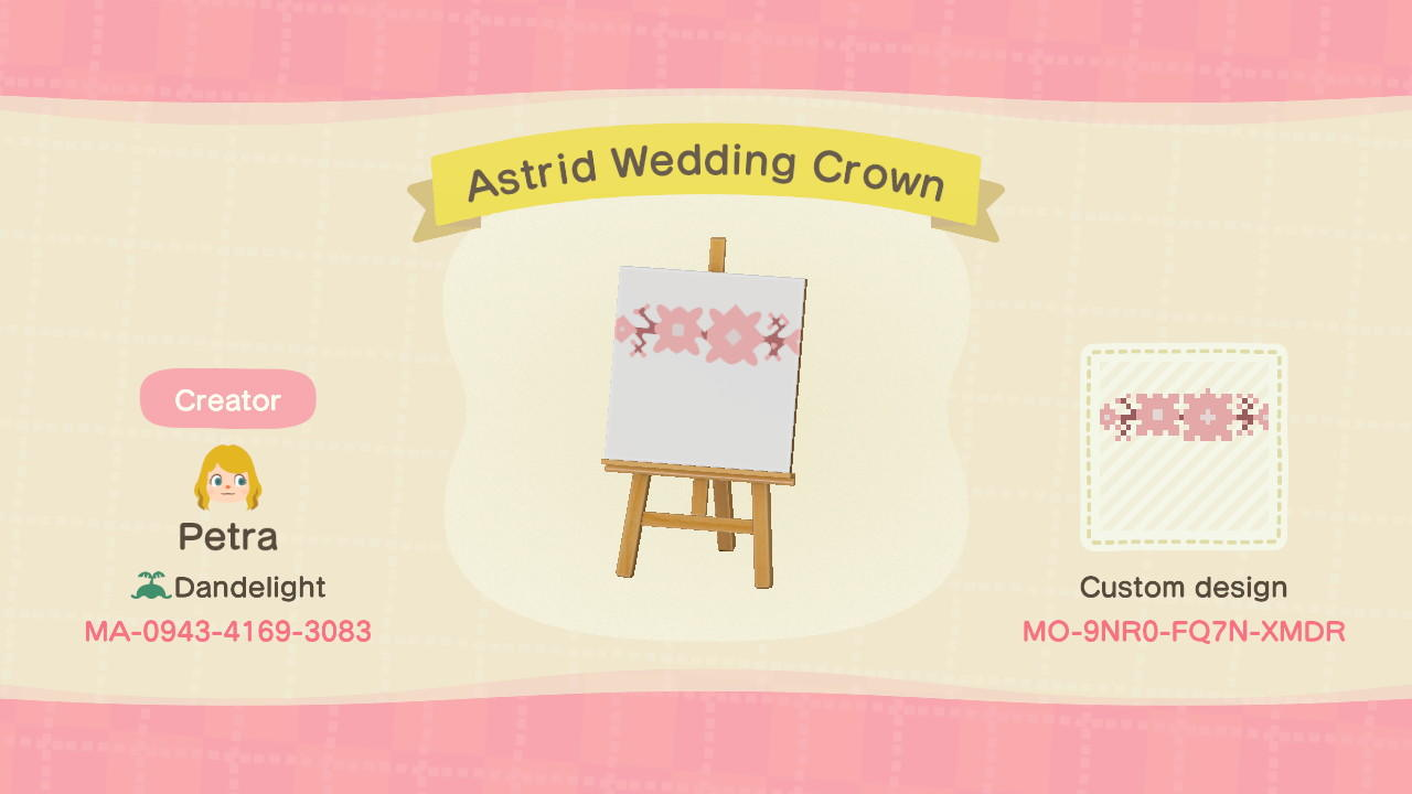 Astrid Wedding Crown - Animal Crossing: New Horizons Custom Design