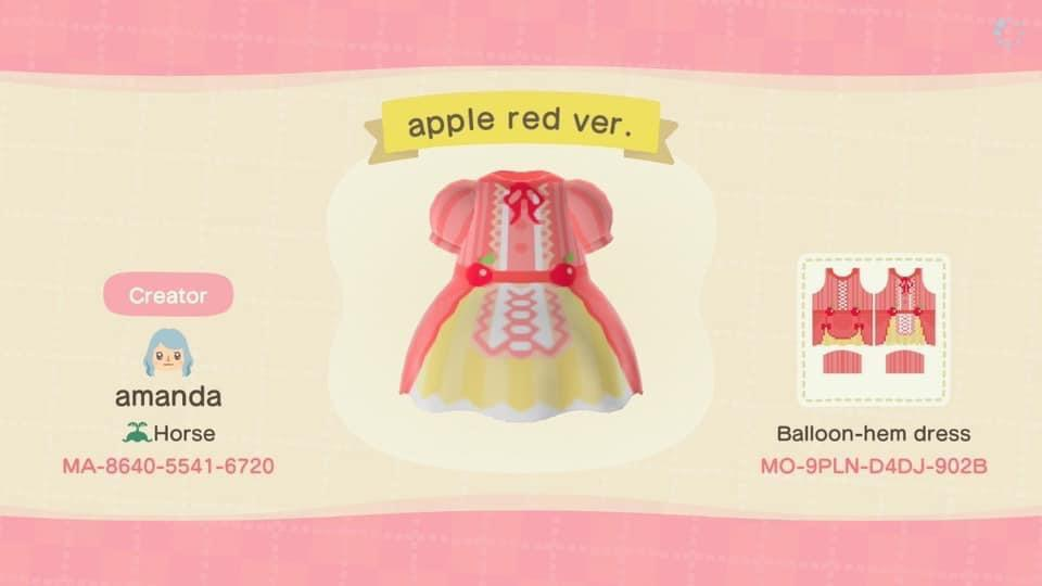Apple Lolita Red - Animal Crossing: New Horizons Custom Design