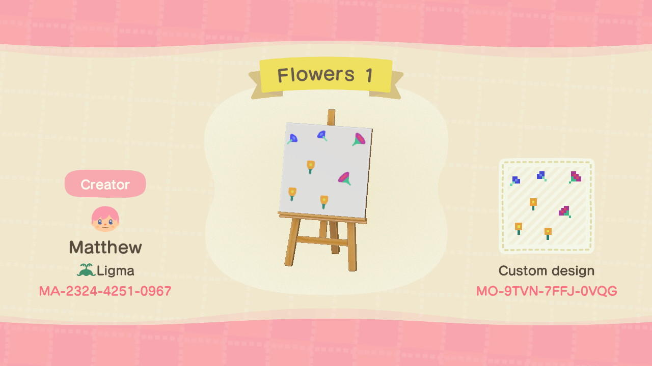 Flowers 1 - Animal Crossing: New Horizons Custom Design