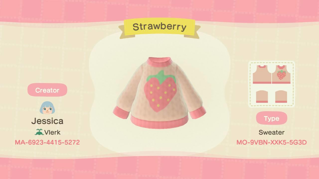 Strawberry Sweater - Animal Crossing: New Horizons Custom Design