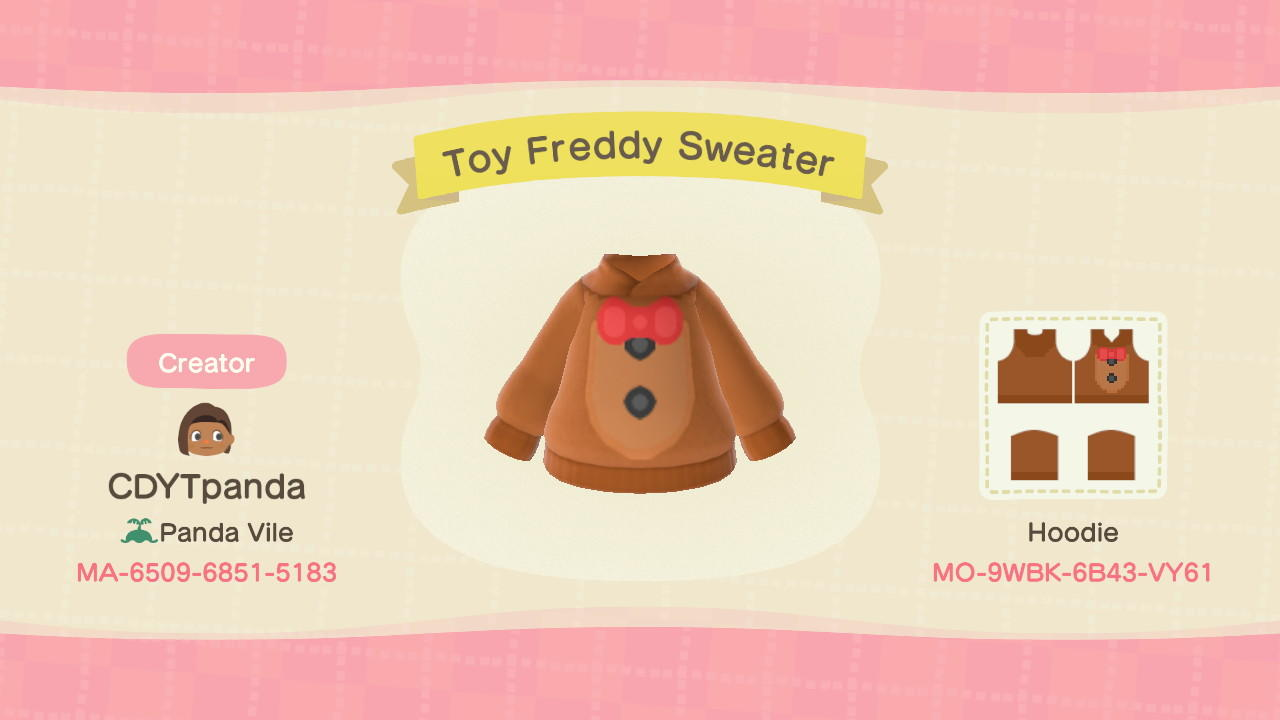 Toy Freddy Sweater - Animal Crossing: New Horizons Custom Design