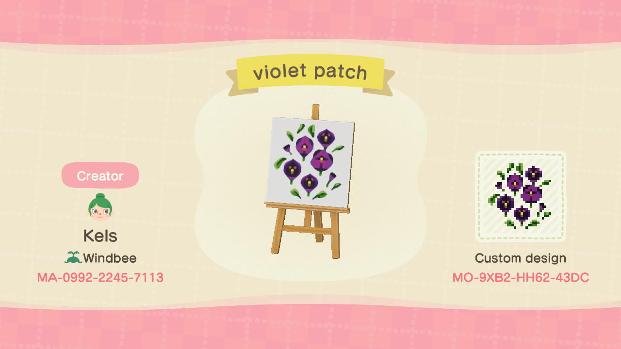 violet patch - Animal Crossing: New Horizons Custom Design