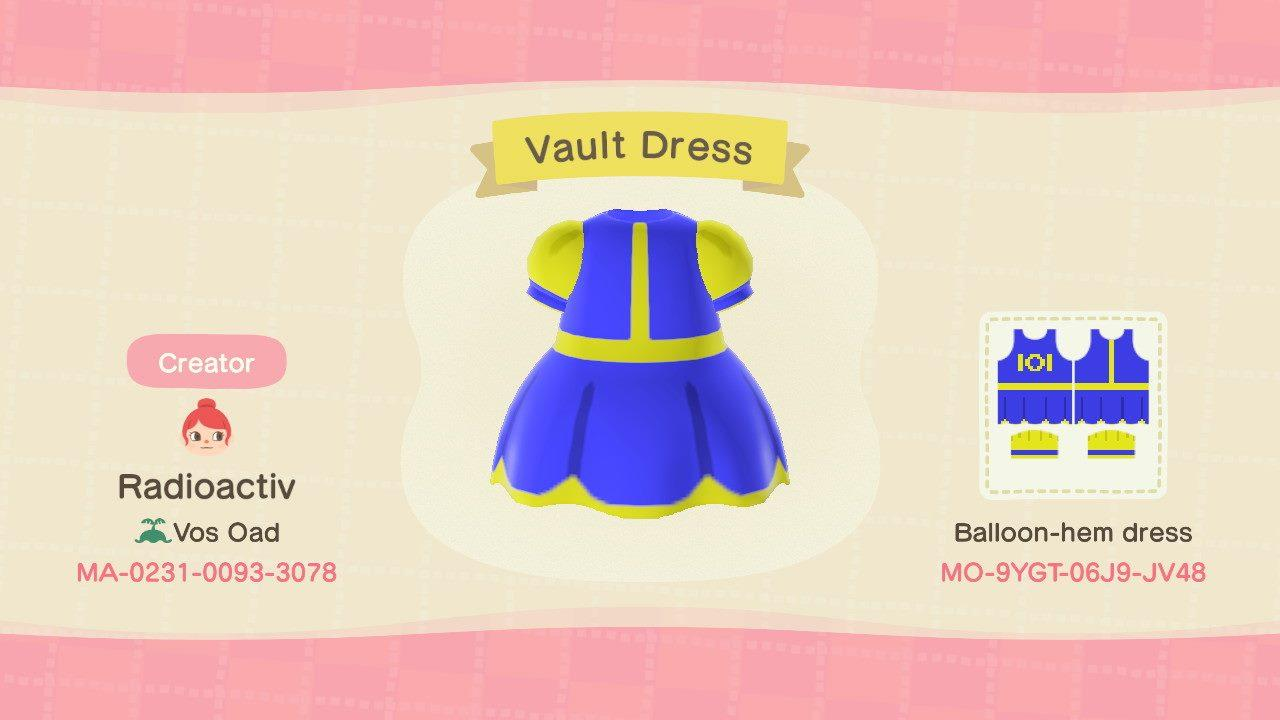 Vault 101 Dress - Animal Crossing: New Horizons Custom Design