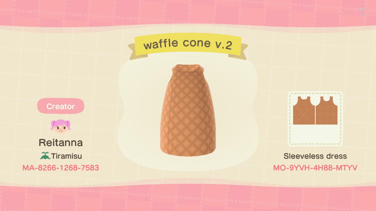 waffle cone (ver. 2) - Animal Crossing: New Horizons Custom Design