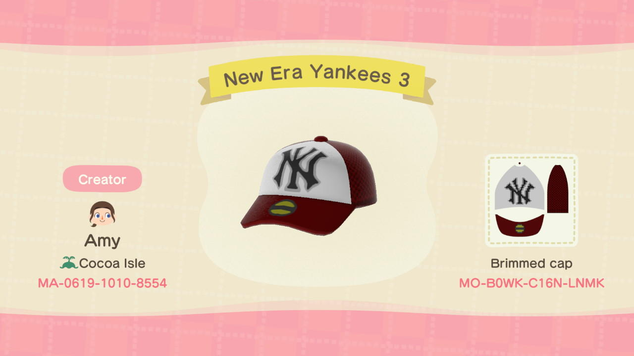 New Era Yankees 3 - Animal Crossing: New Horizons Custom Design
