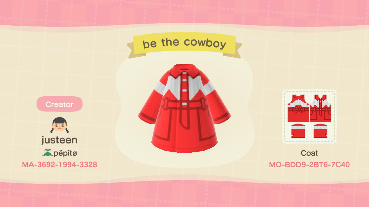 be the cowboy  - Animal Crossing: New Horizons Custom Design