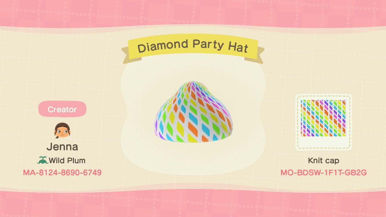 Diamond Party Hat - Animal Crossing: New Horizons Custom Design